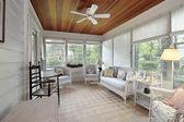 Porch in suburban home — Stok fotoğraf