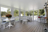 Porch in luxury home — ストック写真