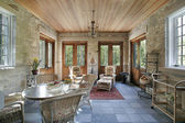 Porch with slate flooring — Stock Photo