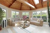 Sunroom in luxury home — Stock Photo