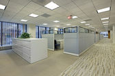 Office area with cubicles — Stock Photo