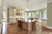Kitchen with curved walls — Stock Photo
