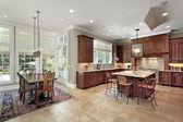 Velká kuchyň s jí oblast — ストック写真