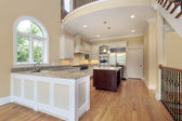 Kitchen with balcony — Stock Photo
