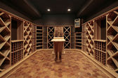 Wood wine cellar — Stock Photo
