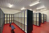 Locker room in swimming area — Stock Photo