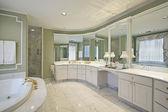 Salle de bain principale avec murs végétalisés — Photo