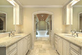 Modern master bath — Stock Photo