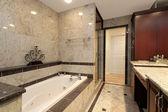 Mermer küvet ile ebeveyn banyosu — Stok fotoğraf