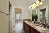 Bath room in new construction home — Stock Photo