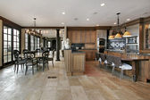 Country kitchen in luxury home — Stock Photo