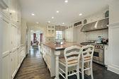 Kitchen in luxury home — Stock Photo