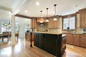 Kitchen with large island — Stock Photo