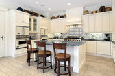 Kitchen in luxury home — Stock Photo