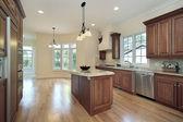 Cocina en una casa de nueva construcción — Foto de Stock