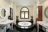 Master bath with marble tub — Stock Photo