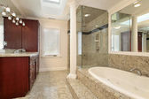 Master bath with large tub — Стоковое фото