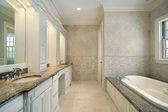 Bagno padronale in nuova costruzione casa — Foto Stock
