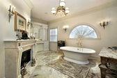 Master bath in luxury home — Stock Photo