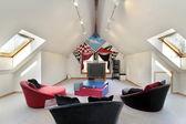 Familienzimmer mit Wand-design — Stockfoto