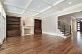 Family room in new construction home — Stock Photo