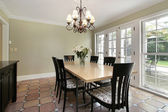 Dining room in luxury home — Stock Photo