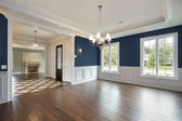 Dining room in new construction home — Stock Photo