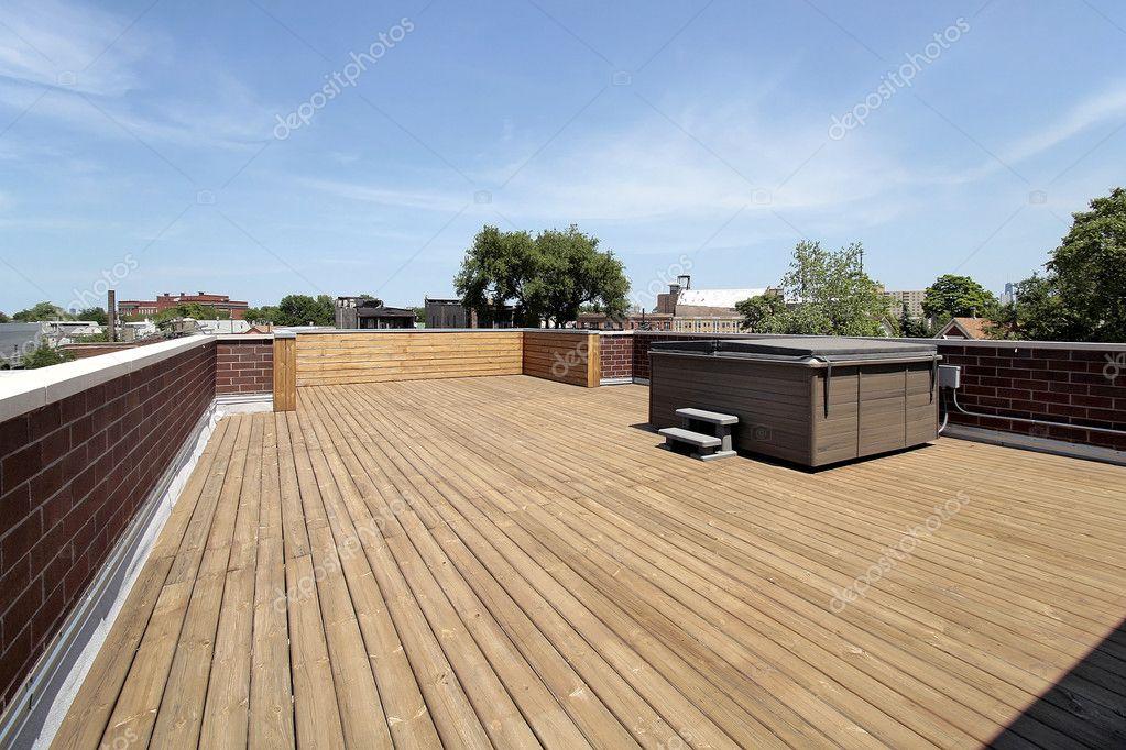 Large wood roof deck — Stock Photo © lmphot #8701333