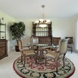 Dining room in suburban home — Foto Stock
