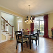 Stock Photo: Dining room with foyer view