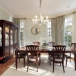 Dining room with bay windows — Stock Photo #8710048