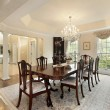 Dining room with columns — Stockfoto #8710233