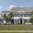 Stock Photo: Colonial home in suburbs