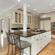 Stock Photo: Kitchen in new construction home