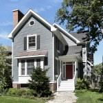 Suburban gray home — Stock Photo #8716859