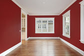 Dining room with red walls — Foto Stock