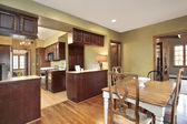 Kitchen and eating area — Stock Photo