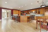 Kitchen in new construction home — Foto Stock