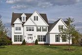Luxury white home — Stock Photo