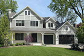 New construction home in spring — Stock Photo