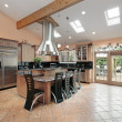 Kitchen with skylights — Stock Photo