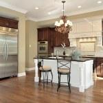 Kitchen with white island — Stock Photo #8727603