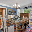 Country style dining room — Stock Photo