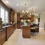 Large wood kitchen — Stock Photo #8727734