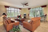 Family room in suburbs — Stock Photo