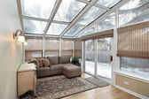 Family room with skylights — Stock Photo