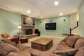 Lower level family room — Stock Photo