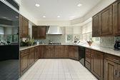 Kare modern mutfak — Stok fotoğraf