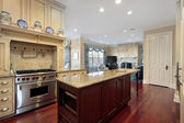 Kitchen and family room — Stock Photo