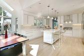 Sleek white kitchen — Stock Photo